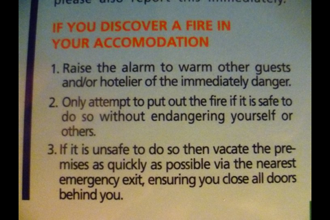 Obviously not written by a fire warden!